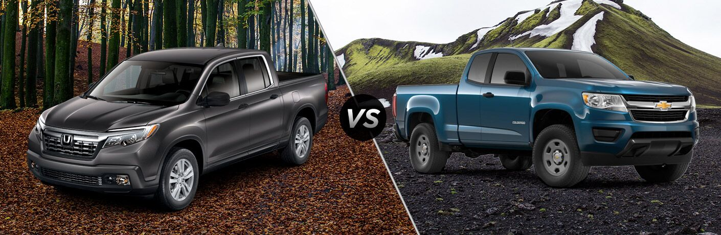 A side-by-side comparison of the 2019 Honda Ridgeline vs. 2019 Chevy Colorado.