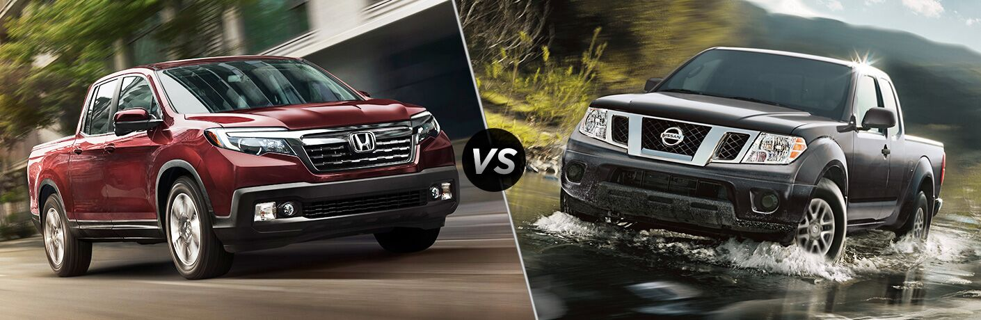 A side-by-side comparison of the 2019 Honda Ridgeline vs. 2019 Nissan Frontier.