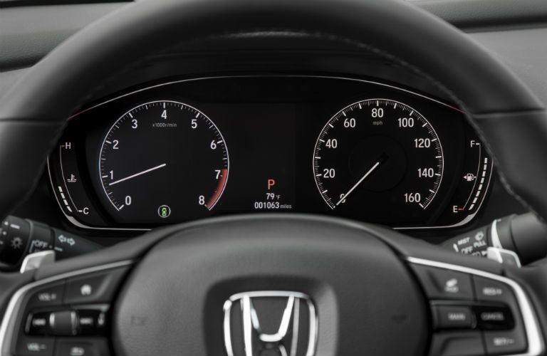 A photo of the center gauge cluster used by the 2020 Honda Accord.
