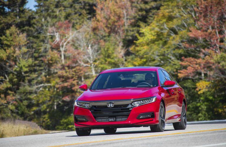 A head-on photo of the 2019 Honda Accord.