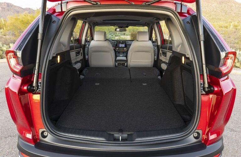 The maximum cargo area in the rear of the 2021 Honda CR-V Hybrid.