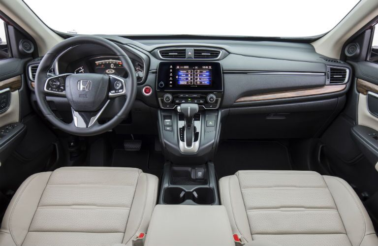 An interior photo showing the dashboard of the 2019 Honda CR-V.