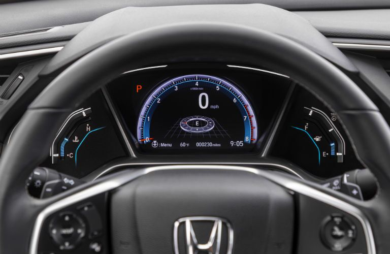 A photo of the center gauge cluster in the 2020 Honda Civic Sedan.