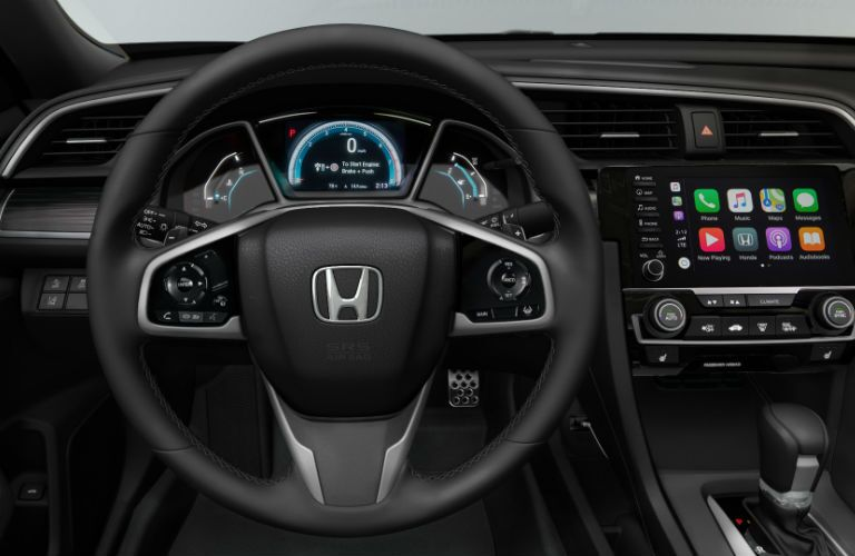 A look at the driver's cockpit in the 2019 Honda Civic Sedan.