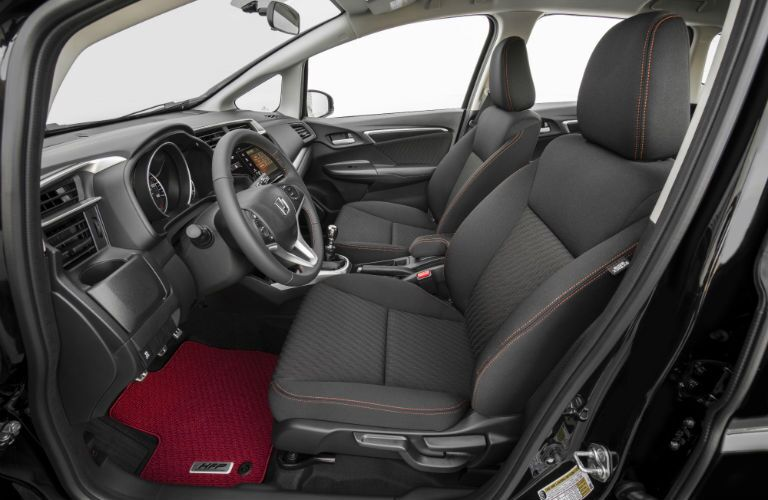 A photo of the front seats in the 2020 Honda Fit.