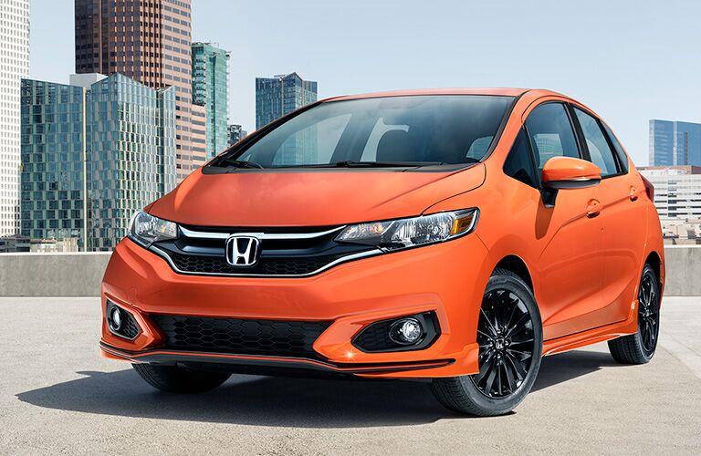 A front left quarter photo of the 2019 Honda Fit.