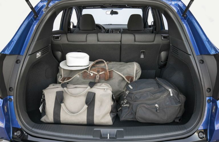 A photo of luggage packed into the back of the 2019 HR-V.