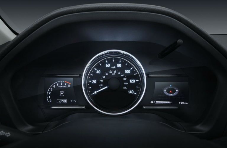 A photo of the gauge cluster used in the 2020 Honda HR-V.