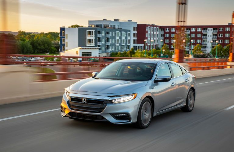 A front left quarter photo of the 2020 Honda Insight.