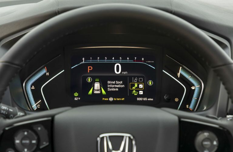 A photo of the gauge cluster in the 2021 Honda Odyssey.