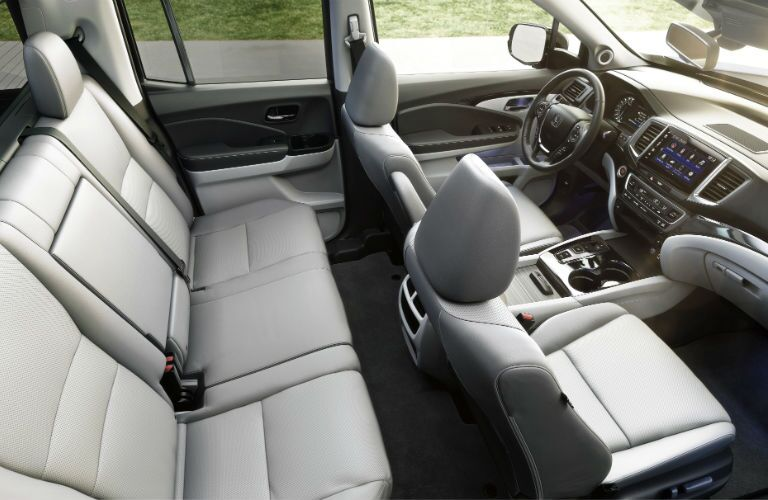 An interior photo of the seats in the 2020 Ridgeline.