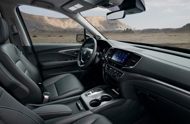 A photo of the front seats in the 2021 Honda Ridgeline.