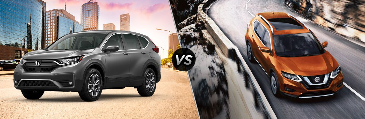 A side-by-side comparison of the 2020 Honda CR-V vs. 2020 Nissan Rogue.