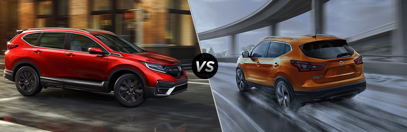 A side-by-side comparison of the 2020 Honda CR-V vs. 2020 Nissan Rogue Sport.