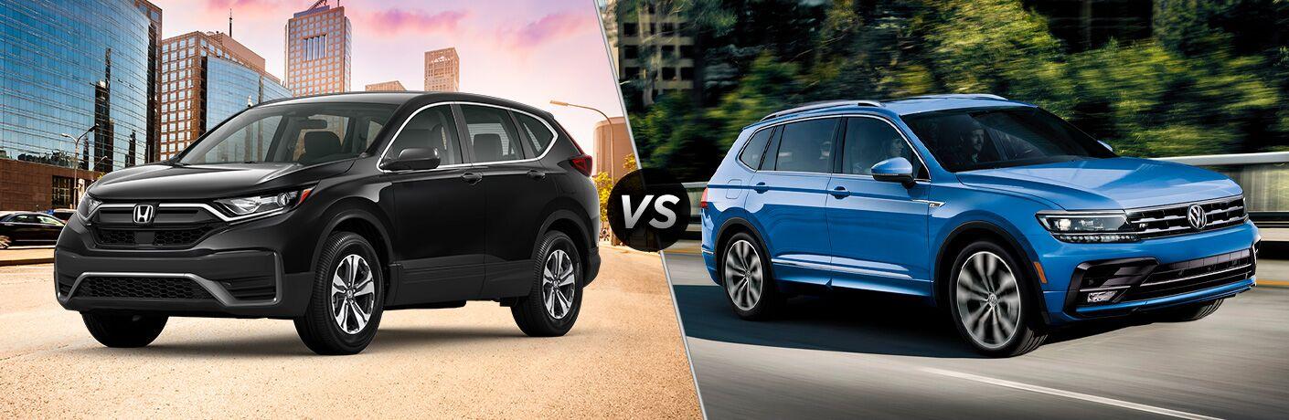 A side-by-side comparison of the 2020 Honda CR-V vs. 2020 Volkswagen Tiguan.