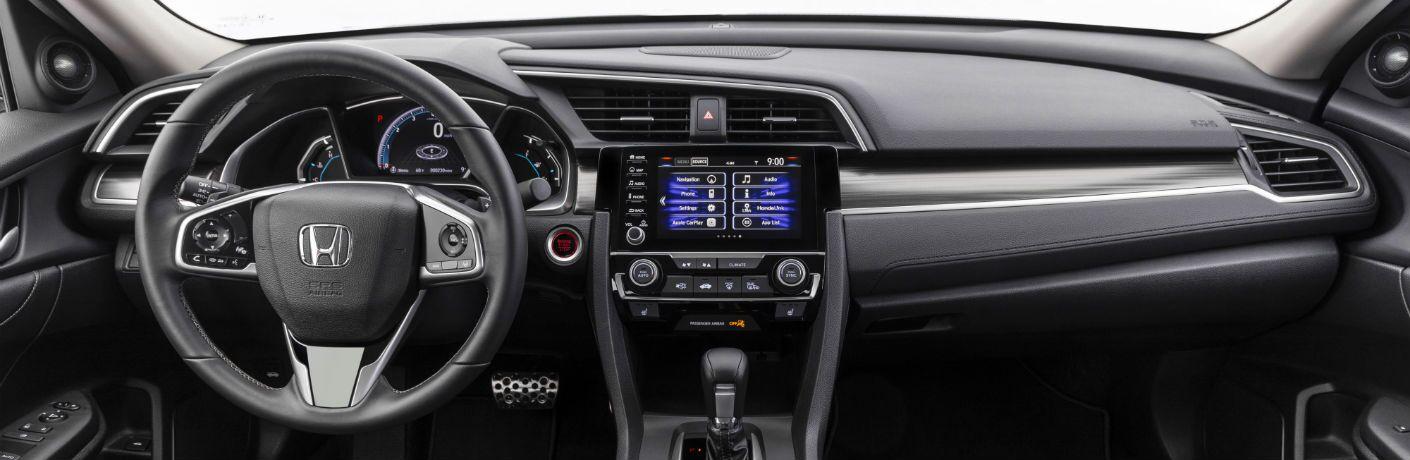 A photo of the dashboard in the 2020 Honda Civic Sedan.
