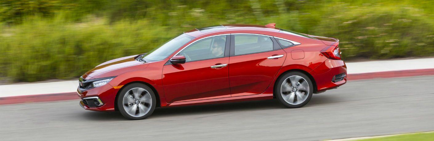 A left profile photo of the 2020 Honda Civic Sedan.