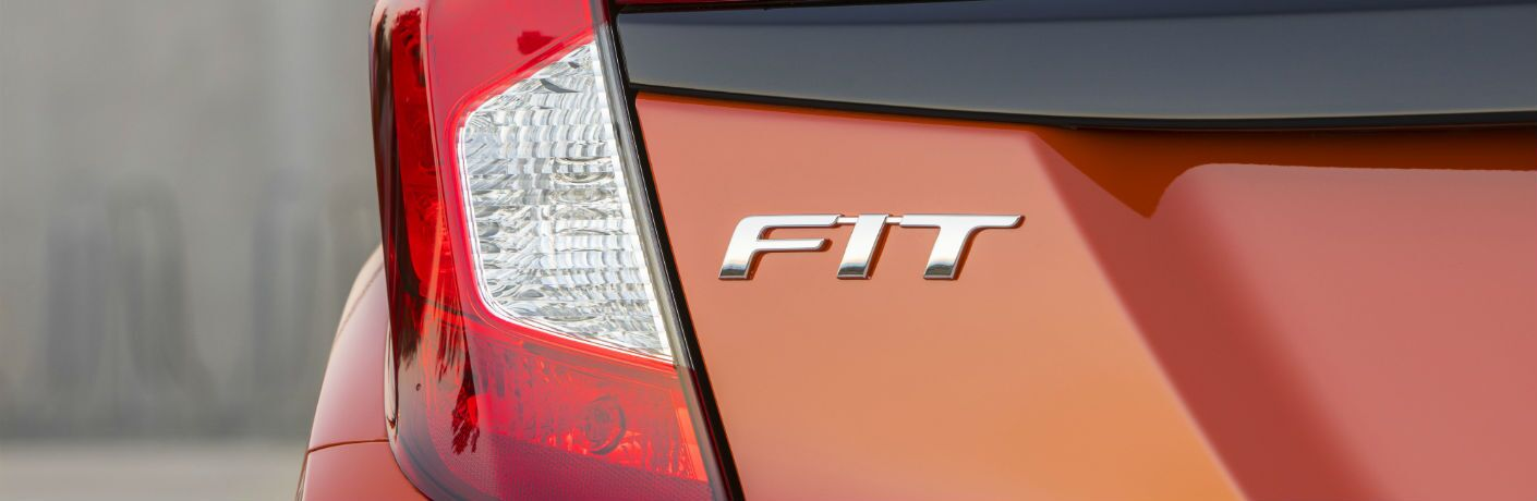A photo of the Fit badge used by the 2020 Honda Fit.