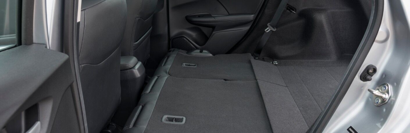 A photo of one of the cargo configurations in the 2020 Honda Fit.