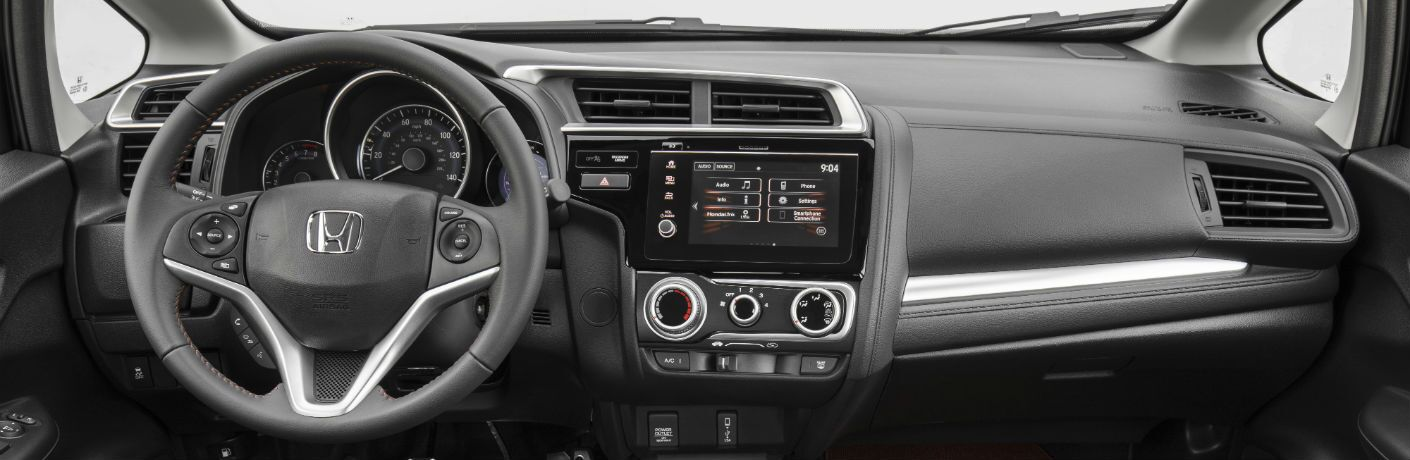 A photo of the dashboard used in the 2020 Honda Fit.