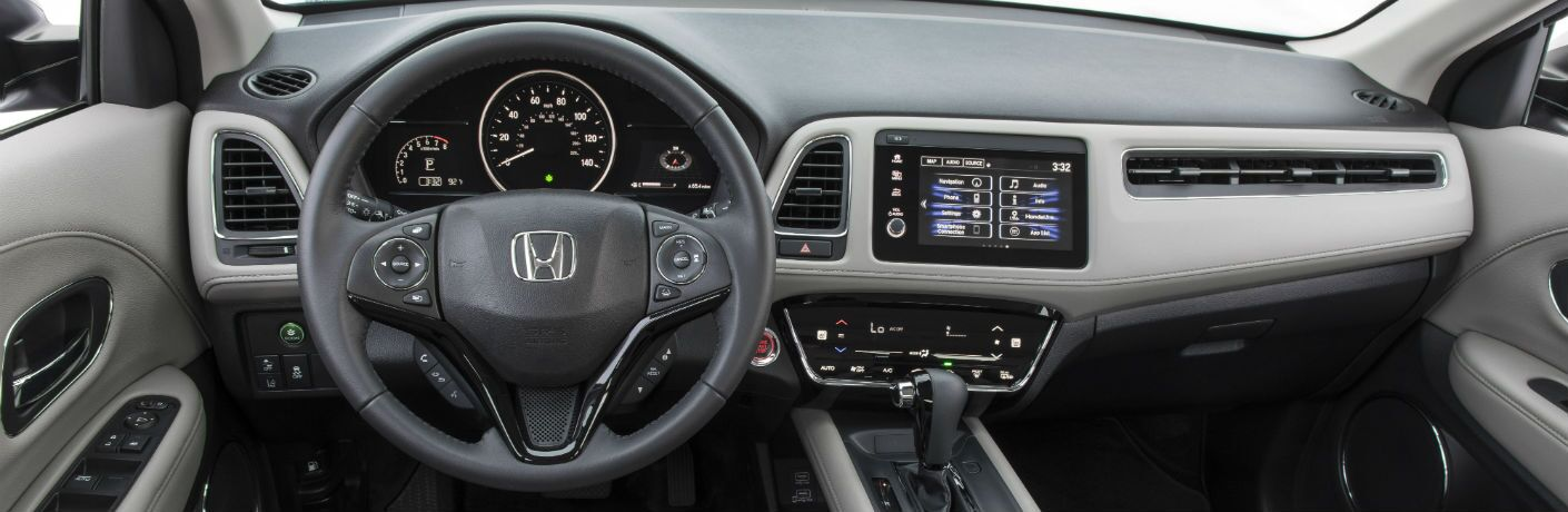 A photo of the dashboard in the 2020 Honda HR-V.