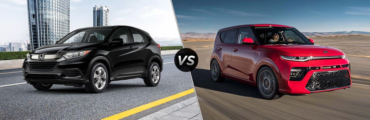 A side-by-side comparison of the 2020 Honda HR-V vs. 2020 Kia Soul.