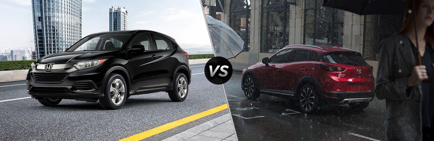 A side-by-side comparison of the 2020 Honda HR-V vs. 2020 Mazda CX-3.