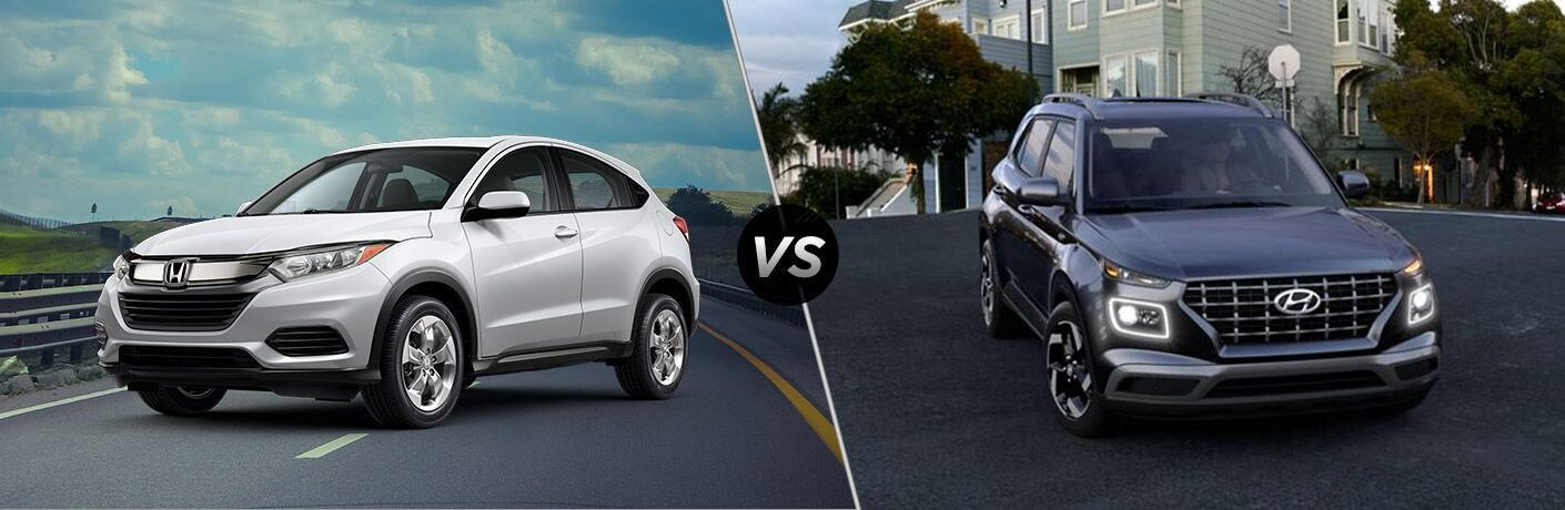 A side-by-side comparison between the 2020 Honda HR-V vs. 2020 Hyundai Venue.