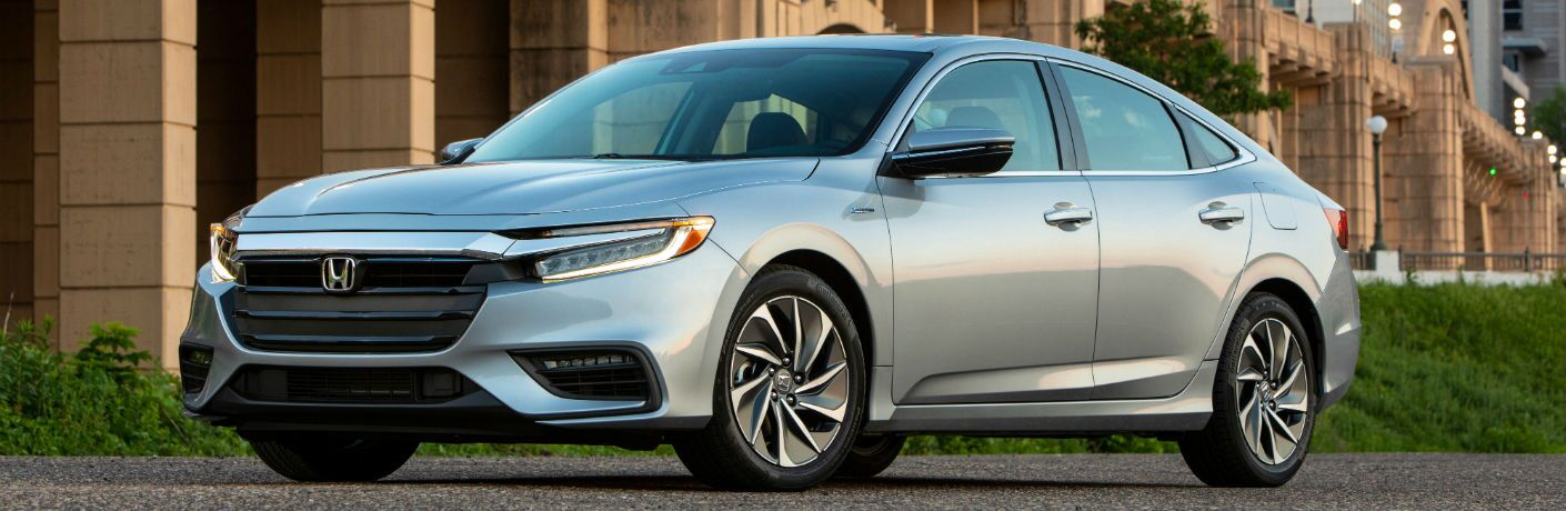 A front right quarter photo of the 2020 Honda Insight.