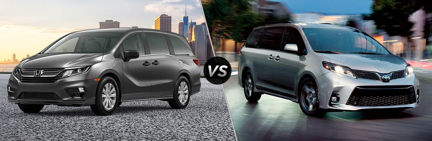 A side-by-side comparison of the 2020 Honda Odyssey vs. 2020 Toyota Sienna.