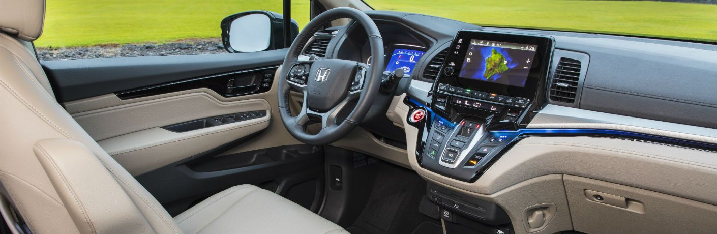 A photo of the dashboard in the 2020 Honda Odyssey.