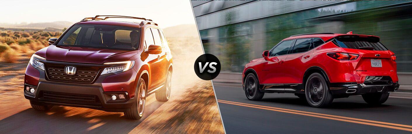 A side-by-side comparison of the 2020 Honda Passport vs. 2020 Chevy Blazer.