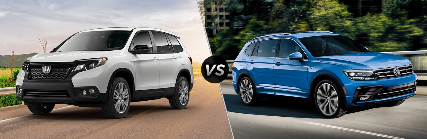 A side-by-side comparison of the 2020 Honda Passport vs. 2020 Volkswagen Tiguan.