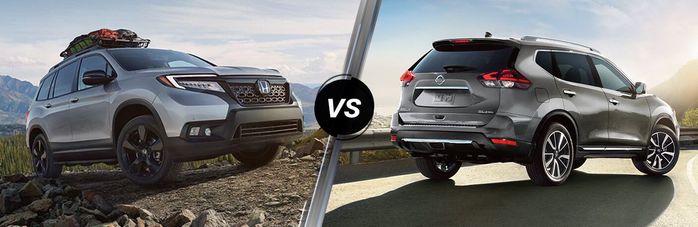 A side-by-side comparison of the 2020 Honda Passport vs. 2020 Nissan Rogue.
