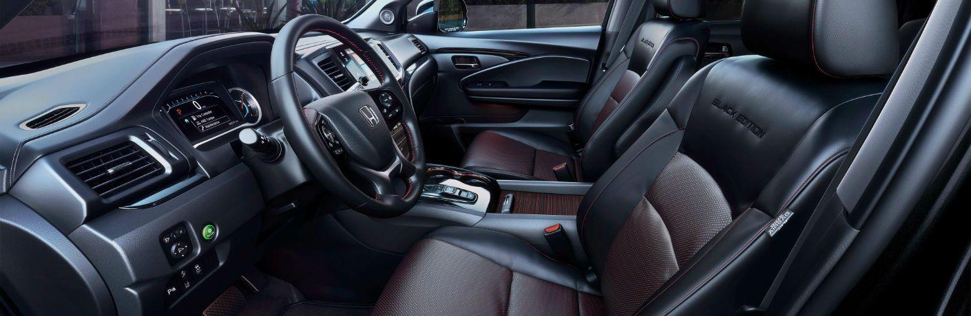 An interior photo of the 2020 Honda Pilot Black Edition.