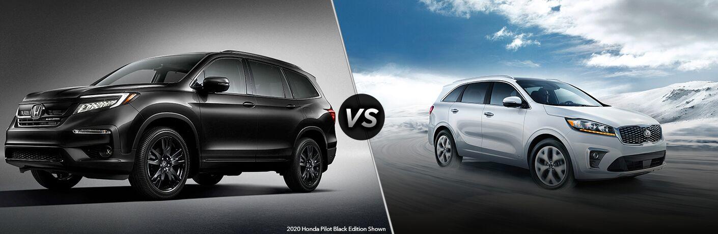 A side-by-side comparison of the 2020 Honda Pilot vs 2020 Kia Sorento.
