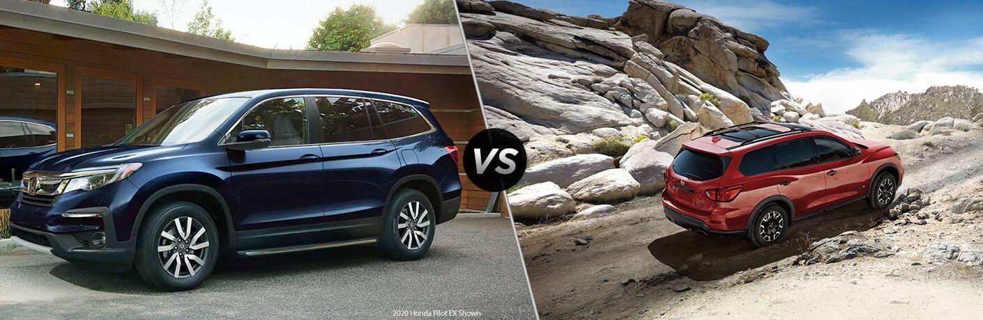 A side-by-side comparison of the 2020 Honda Pilot vs. 2020 Nissan Pathfinder.