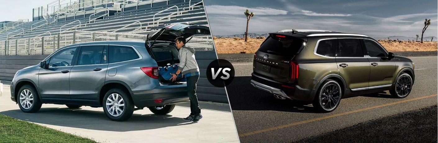 A side-by-side comparison of the 2020 Honda Pilot vs. 2020 Kia Telluride