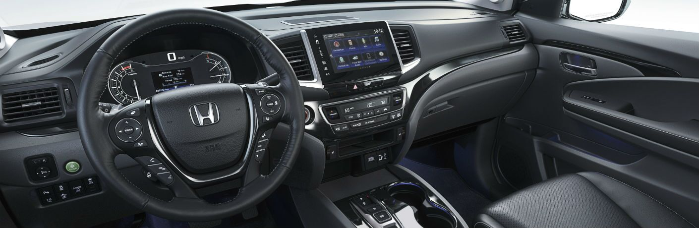 A photo of the dashboard in the 2020 Honda Ridgeline.