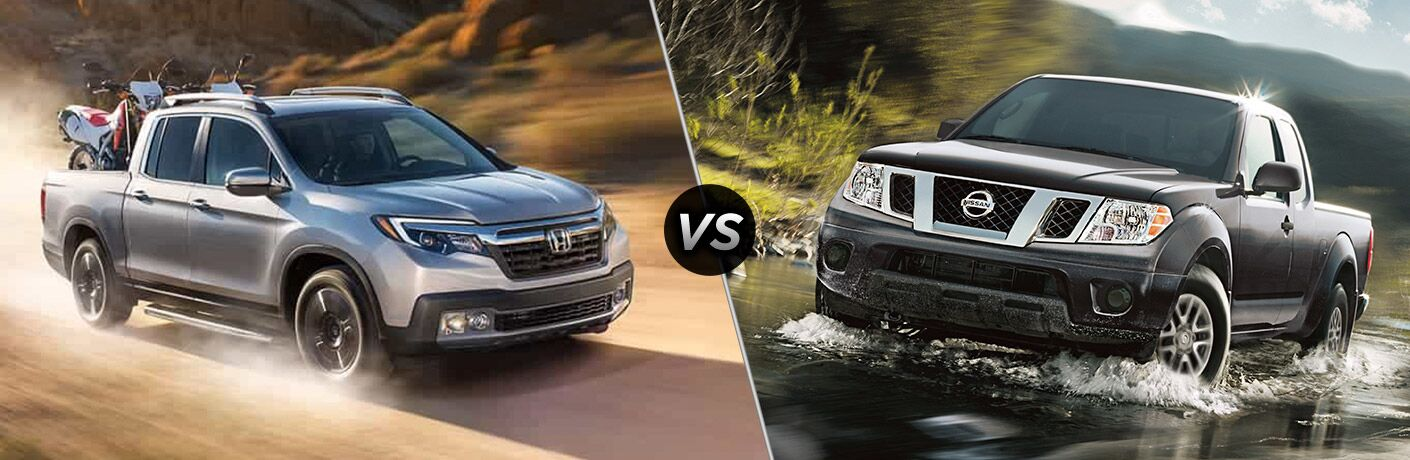 A side-by-side comparison of the 2020 Honda Ridgeline vs. 2020 Nissan Frontier.