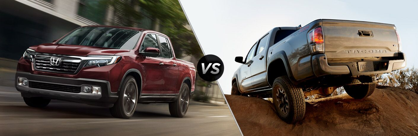 A side-by-side comparison of the 2020 Honda Ridgeline vs. 2020 Toyota Tacoma.
