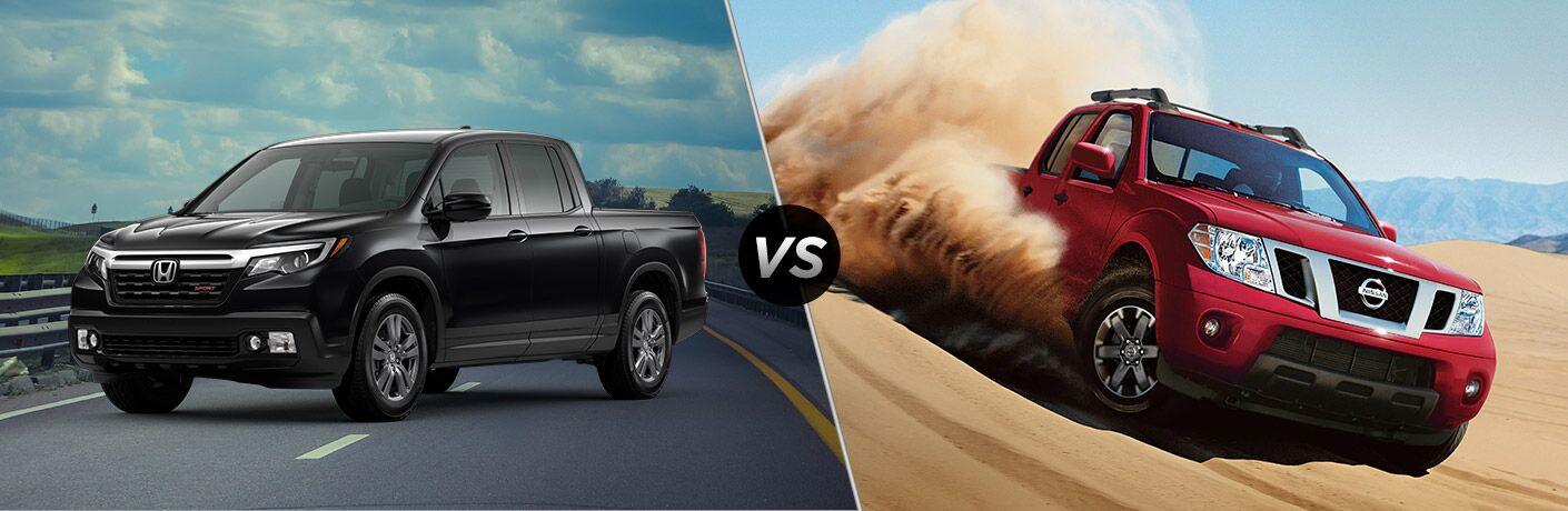 A side-by-side comparison between the 2020 Honda Ridgeline vs. 2020 Nissan Frontier.