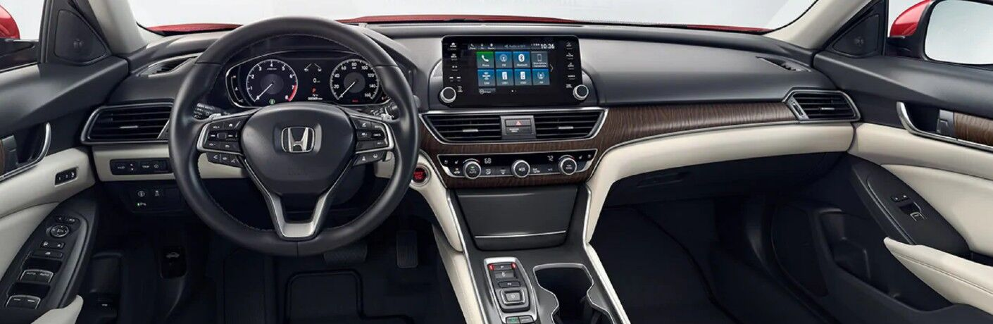 A photo of the dashboard in the 2021 Honda Accord.