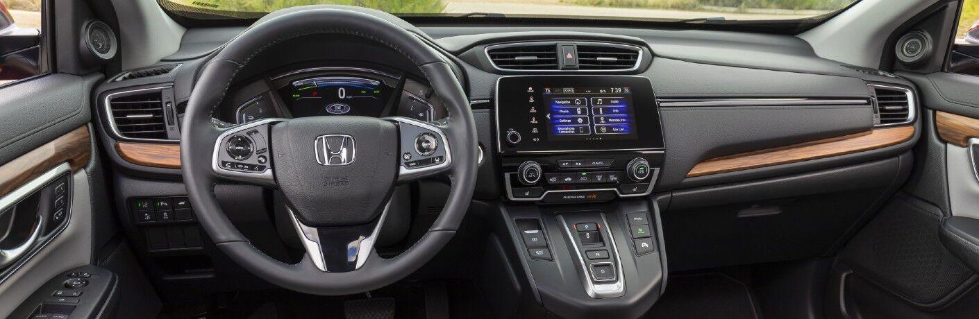 The dashboard in the 2021 Honda CR-V Hybrid.