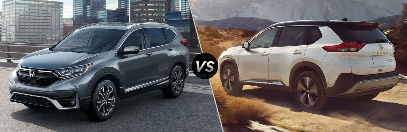 A side-by-side comparison of the 2021 Honda CR-V vs. 2021 Nissan Rogue.
