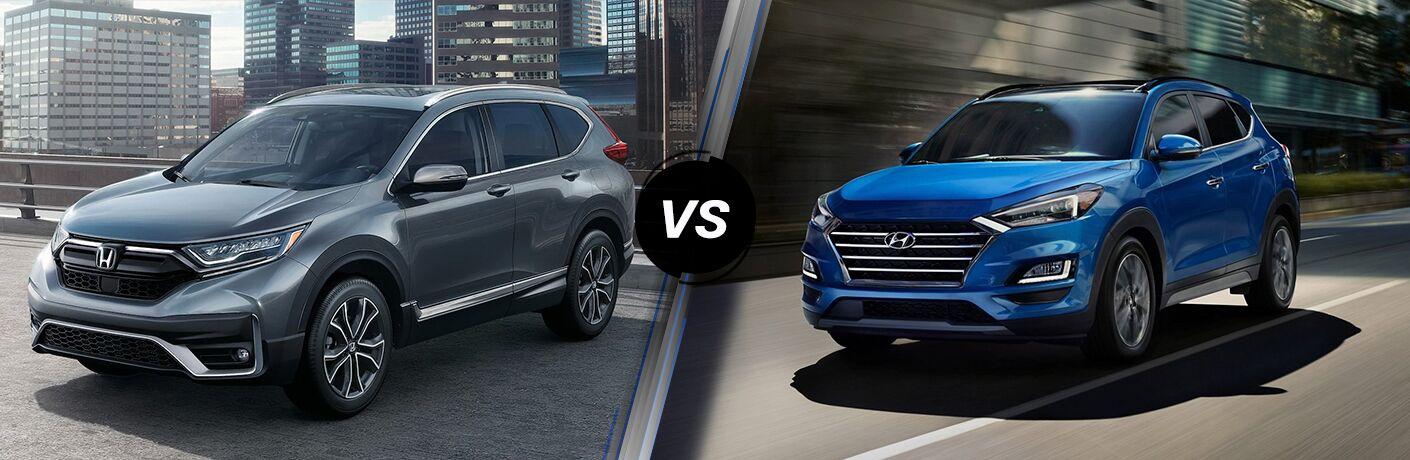 A side-by-side comparison of the 2021 Honda CR-V vs. 2021 Hyundai Tucson.