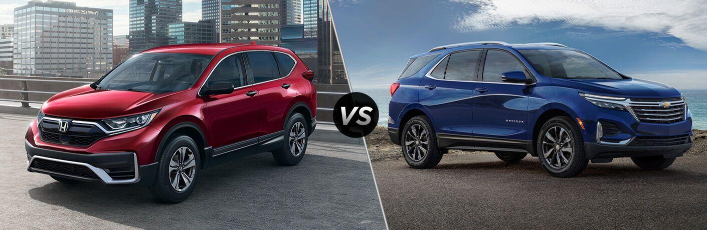 A side-by-side comparison of the 2021 Honda CR-V vs. 2021 Chevy Equinox.