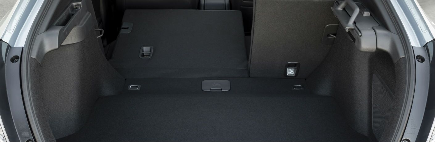 A photo of the cargo area in the back of the 2021 Honda Civic Hatchback.