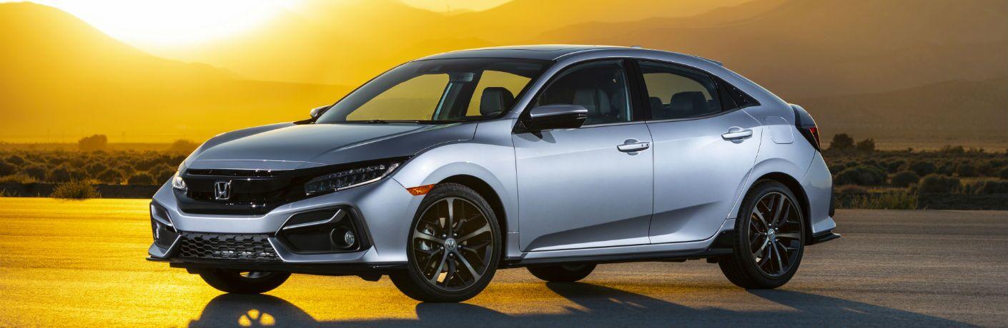 A front-left quarter photo of the 2021 Honda Civic Hatchback.