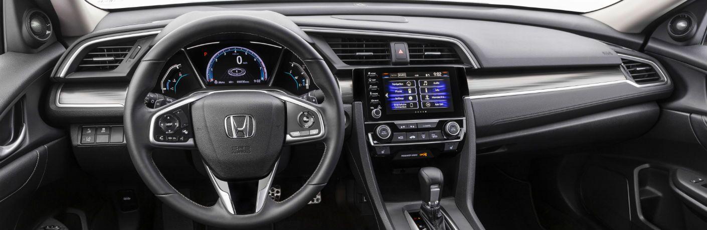 A photo of the dashboard in the 2021 Honda Civic Sedan.